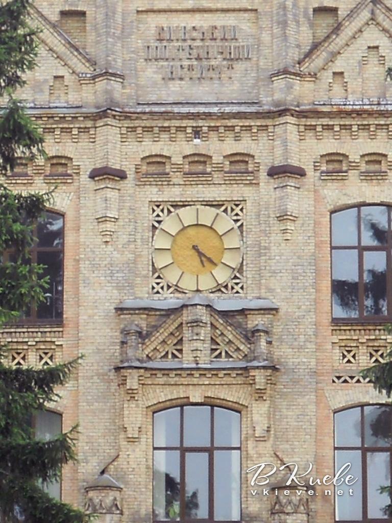 Часы главного корпуса КПИ