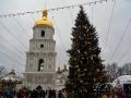 Главная новогодняя елка 2017 на Софиевской площади в Киеве