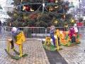 Главная новогодняя елка 2017 на Софиевской площади в Киеве. Развлечения для детей