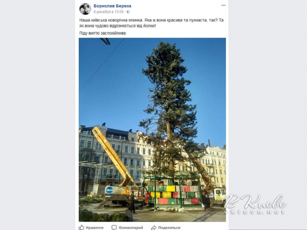 Соцсети о главной елке 2018 в Киеве