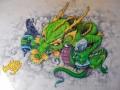 Граффити «Дракон» тату-салона