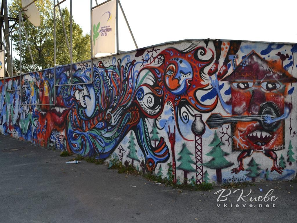 Граффити стадиона «Спартак»