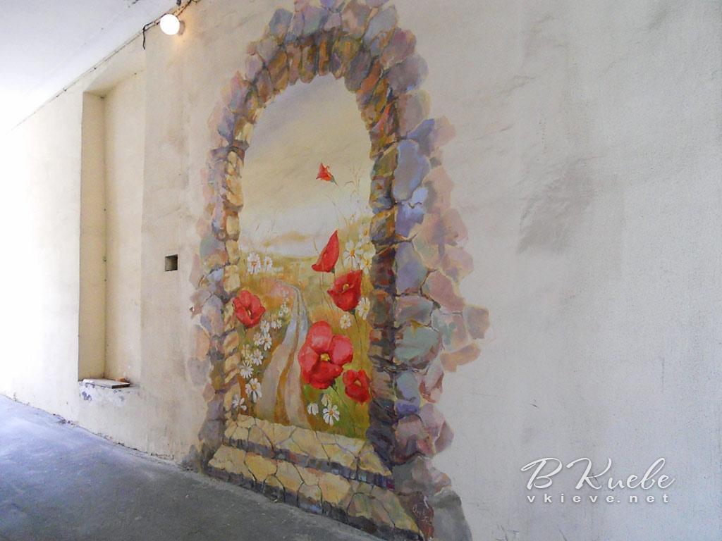 Граффити с маками на Костельной
