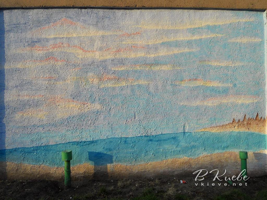 Морской стрит-арт на Оболони