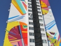 Мурал-абстракция на проспекте Победы