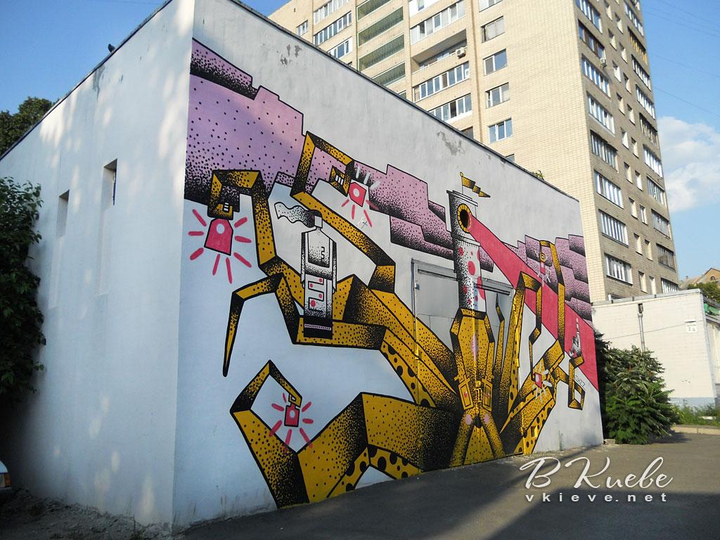 Мурал «Энергетический кракен» от Киевэнерго