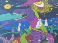 Мурал-мозаика «Говорящий динозавр»