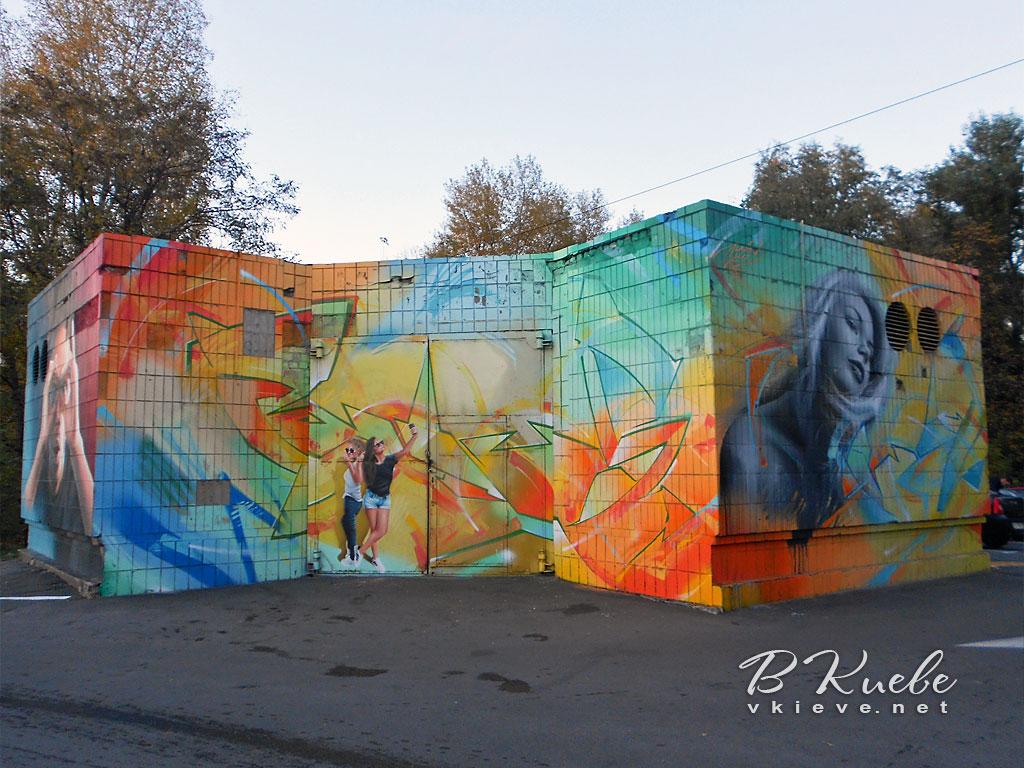Мурал на улице Богатырской