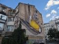 Мурал «Свобода» с синицей на улице Франко
