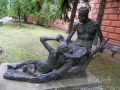 Скульптура «Партизаны» на территории НАОМА