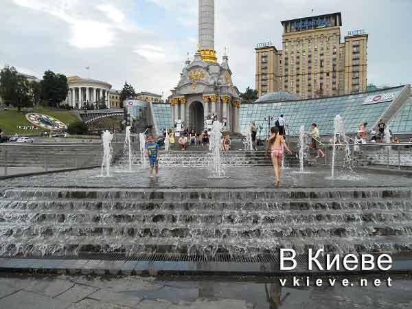 Каскадный фонтан на Майдане Незалежности в Киеве