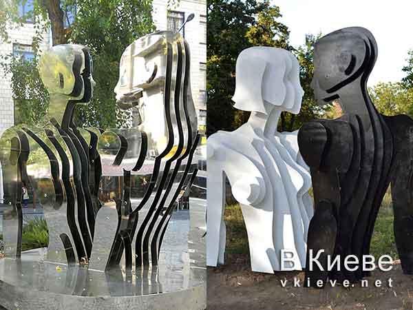 Памятники-близнецы «Любовь-Река» и «Река-любовь»