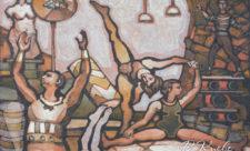 Цирковые муралы на Жилянской