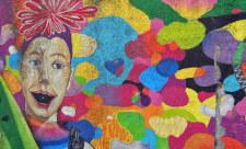 Граффити «Cirque du Soleil» на бульваре Леси Украинки