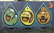 Граффити Оболонской набережной