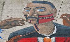 Мурал бразильского художника на Спасской