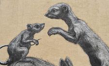 Мурал с кроликом, крысой и мангустом