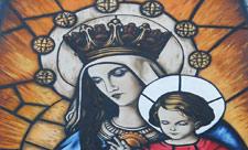 Мурал с Пресвятой Богородицей