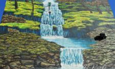 Мурал с водопадом на Златоустовской