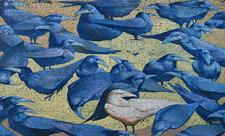 Мурал с воронами «Вестник жизни»