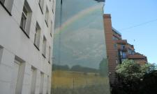 Пейзаж с радугой на Владимирской