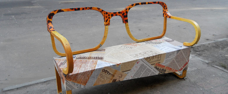 скамейка-очки