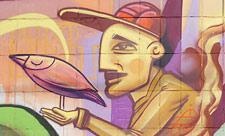 Стрит-арт на стенах бойлерной