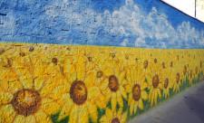 Патриотический стрит-арт на Жилянской