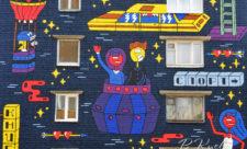 Стрит-арт о путешествиях в Лабораторном переулке