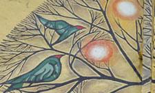 Стрит-арт с птицами на улице Артема