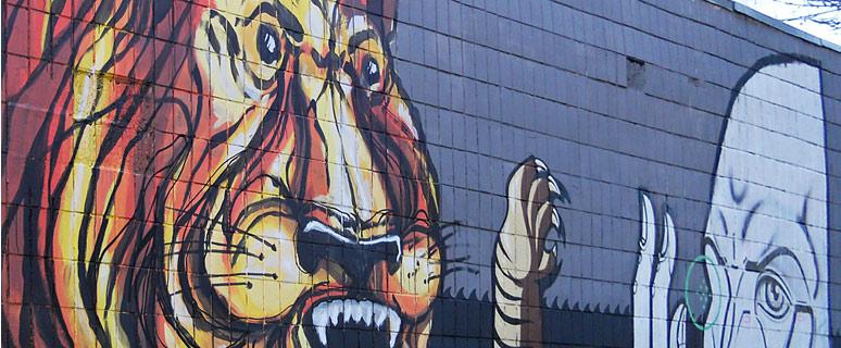 Стрит-арт-с-тигром-на-улице-Гончара